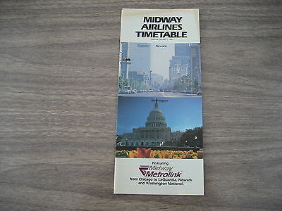 Midway  Airlines  October  1983   Timetable