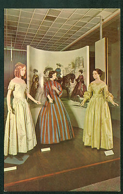 Period Dresses from 19th Century America Costumes Postcard