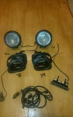 Genuine land rover freelander fog+ spot lights with switches rare