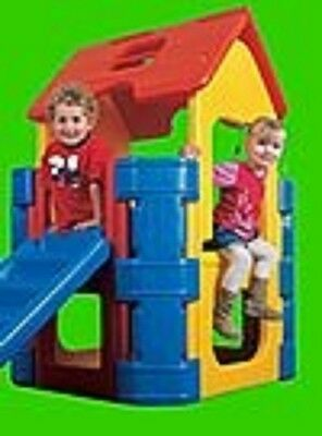 Plastic Activity Play House Gym Slide Steps Tough Strong Fun Outdoor Boy Girl