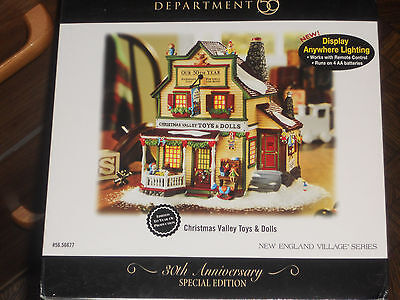 """Dept. 56 Christmas """"Valley Toys and Dolls"""" New England Village Series- Spec. ED."""
