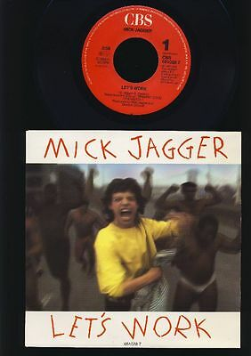 Rolling Stones - Mick Jagger - Let's Work - Catch as -  7 Inch Vinyl - HOLLAND