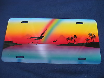 Seabirds & Rainbow  Picture   Novelty Plate  (Pk131)