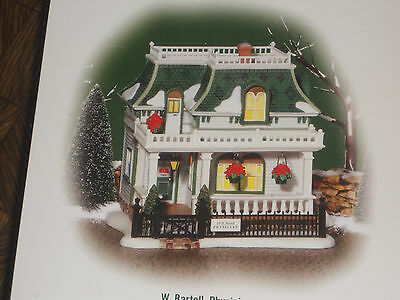 """Dept 56  """"W. Bartell, Physician"""" NEW New England Village"""