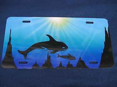 Whales  Novelty Plate  (Pk128)