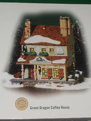 """Dept 56 """"GREEN DRAGON COFFEE HOUSE"""" 56678 New England Village- Special Edition"""