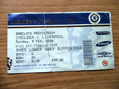 TICKET - CHELSEA v LIVERPOOL 5/2/2006