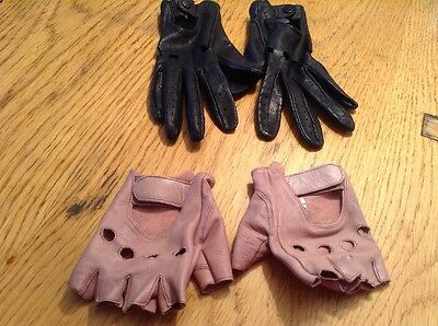 Two Pairs Of Leather Gloves By Top Shop