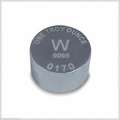 Tungsten bullion metal ingot - one troy ounce - .9995 bullion - 1 oz
