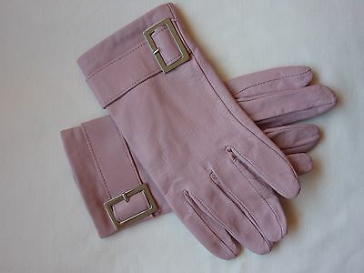 Vintage style ladies leather gloves size S