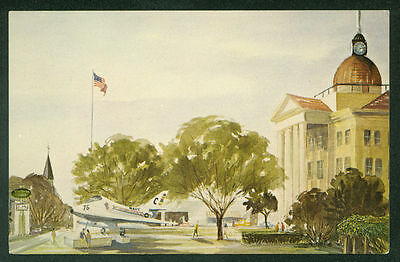 Bee County Courthouse Beeville Texas Painting Postcard
