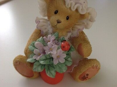 "Cherished teddies Violet ""Blessings Bloom When You Are Near"""