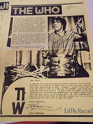 The Who  Fan Club Magazine Number 35  1988