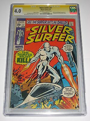 Silver Surfer #17 CGC 4.0 SS Signature Series Signed Stan Lee