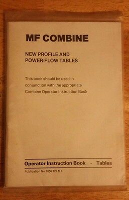 Massey Ferguson combine tables operator instruction book