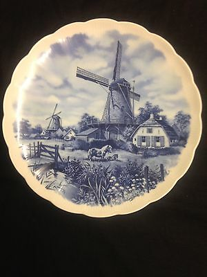Blue And White Delft Plate