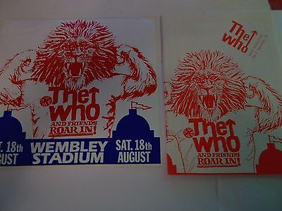 The Who Fan Club Magazine Number 2 1979 And Unused Sticker From Roar In Concert