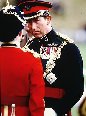 PRINCE CHARLES in the Cardif Chateau - Original 35mm COLOR Slide - 1994