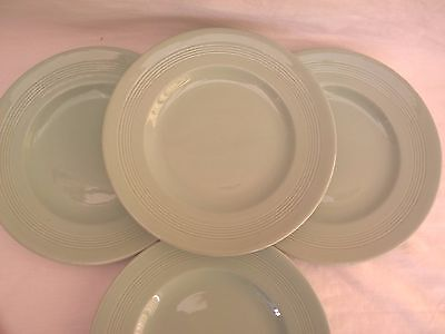 """WOODS WARE - BERYL - 4x Side Plates 8"""" - Vintage Green Utility"""