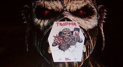 IRON MAIDEN Trooper beer pump clip for the 4.7 brew.