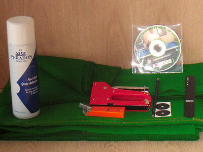 7ft Pool Table Recovering Kit & Tutorial DVD (HAINSWORTH)
