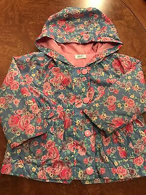 F&F Baby Girl Pretty Rain Coat 9/12 Months