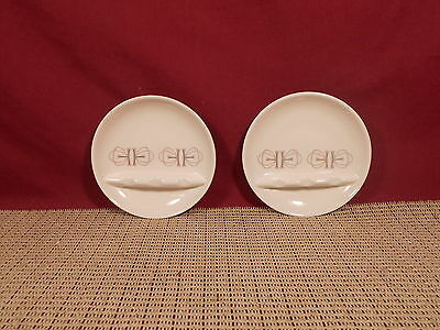 """Franciscan China Merry Go Round Pattern 2 Small Ashtrays 3 3/4"""""""