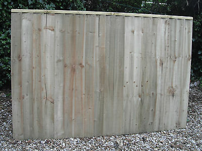 Heavy Duty Wooden Fence Panels 6 x 4 Tantalised Pressure Treated Feather Edge