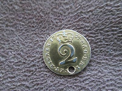 1737 GEORGE II TWO PENCE GILDED COIN- rare item