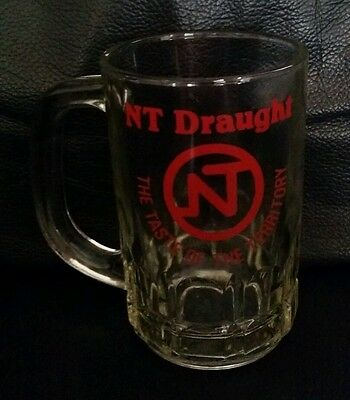 Rare Collectable Northern Territory Nt Draught 285Ml Beer Glass Mug Stein