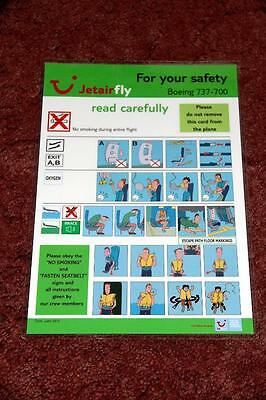 Jetairfly Boeing 737-700 Safety Card