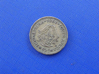 coins.south africa.1/2.cent.1961......#599
