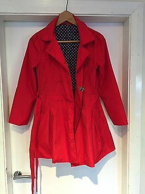 Red Girls Coat Age 11 12