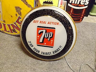 Rare and Beautiful 7-UP Glass Spinner