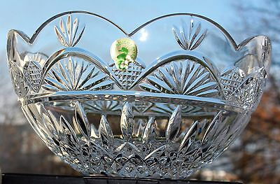 "Waterford Crystal ~ Lismore Jim O Leary ~ 8"" Bowl ~ Boxed"