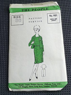 1960's Dress And Jacket - The People 951 Pattern