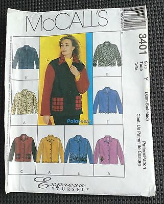 2001 Unlined Jackets - McCalls 3401 Pattern