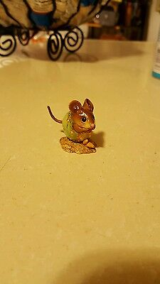 Wee Forest Folk NM-1 Nibble Mouse - Peachy Pink