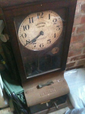 Antique National Time Recorder Clocking In Machine From National Electric.