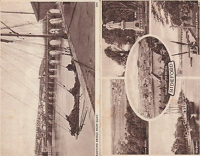 2 Early Postcards Bideford Sepia - Solograph by Sweetman