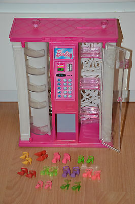 Barbie Doll Vending Accessory Wardrobe with 10 pairs Shoes