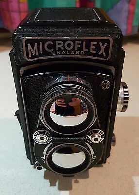 Microflex TLR Vintage Camera and Case - Great Condition - Twin Lens Reflex
