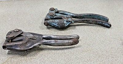 Vintage Roper Whitney Sheet Metal Hole Punch Hand Tool Lot of 2