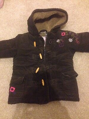 Girls Winter Duffle Coat Jacket Age 18 Months / 1.5 Years