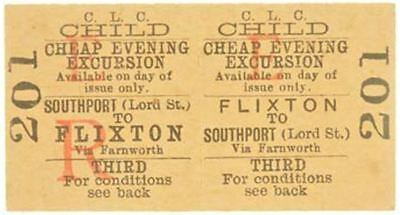 C.L.C. Railway Ticket Flixton to Southport (Lord St.)