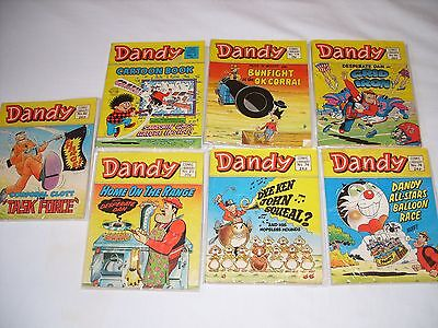 7 x DANDY COMIC LIBRARY EDITIONS