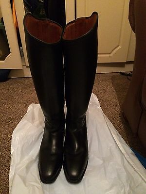 Cavello Dressage Long Leather Riding Boots Size 8 With Bag