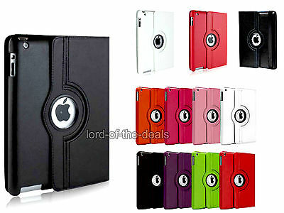 360 Degree Rotating Smart Stand Case Cover Apple iPad 2 3 4