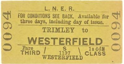LNER Ticket Trimley to Westerfield