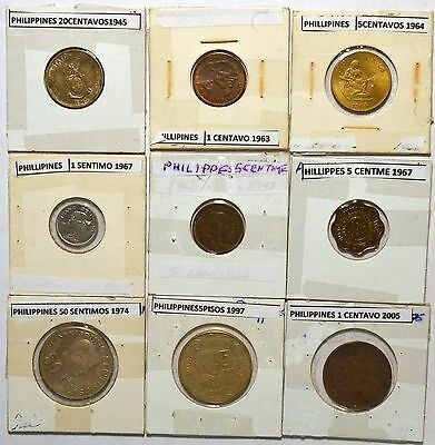 (9) COIN LOT: PHILIPPINES See my other lots! Combined Shipping! {#8)